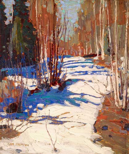 Path Behind Mowat Lodge By Tom Thomson Group Of Seven