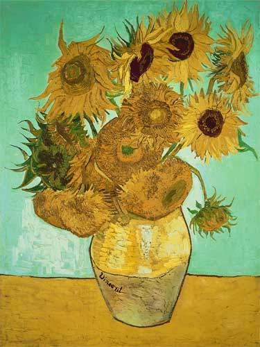 Vase With Twelve Sunflowers By Vincent Van Gogh European