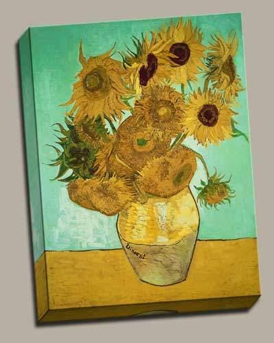 Vase with Twelve Sunflowers by Vincent Van Gogh & Vase with Twelve Sunflowers by Vincent Van Gogh | European