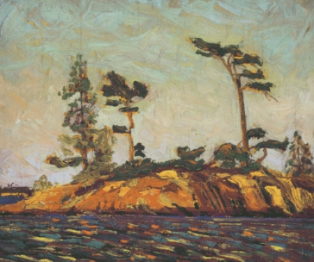 Split Rock Georgian bay by Tom Thomson